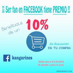 ¡¡ Consigue un 10% de descuento al comprar en https://kangurines.com !!Síguenos en Facebook https://www.facebook.com/kangurines/  y descubre cómo beneficiarte!!