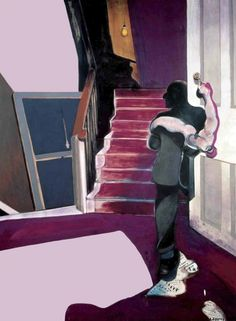 Francis Bacon:  Central panel of the 'Triptych in Memory of George Dyer', 1971. Oil on canvas