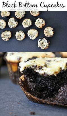 Black Bottom Cupcakes are chocolate and cheesecake together---YUM!