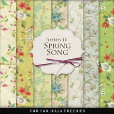 Far Far Hill: New Freebies Backgrounds Kit - Spring Song