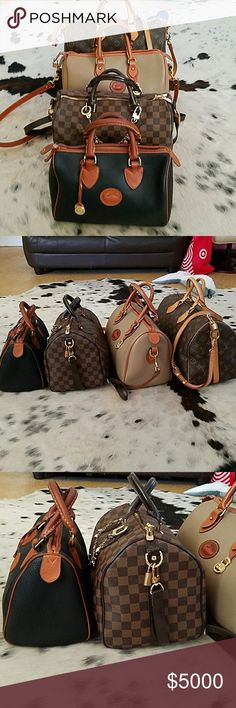 Dooney & Bourke vs. Louis Vuitton Speedy satchel Dooney & Bourke vs. Louis Vuitton Speedy satchel size comparison only. All weather leather Dooney satchel R28 & R38 size next to Louis Vuitton Speedy 30 & 35.  The bags are very similar in size- the Dooneys are slightly smaller.   See my closet for listings Dooney & Bourke Bags Satchels