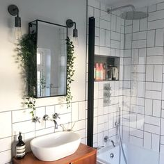 Bathroom Trends, Modern Bathroom, Small Bathroom Ideas, Industrial Bathroom, Modern Small Bathrooms, Bathroom Inspo, Small Bathroom With Shower, Designs For Small Bathrooms, Vintage Industrial