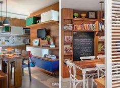 cozinhas com copas estante madeira freijo porta ripada