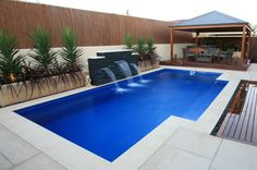 Having a pool sounds awesome especially if you are working with the best backyard pool landscaping ideas there is. How you design a proper backyard with a pool matters. Piscine Simple, Piscine Diy, Ideas De Piscina, Leisure Pools, Moderne Pools, Pool Colors, Fiberglass Swimming Pools, Pool Water Features, Rectangular Pool