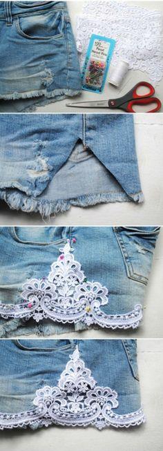 Brincando com jeans