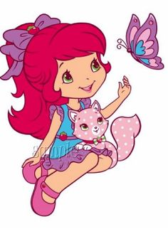Strawberry Shortcake Cartoon Characters | ... Girlie Designs :: Strawberry Shortcake lookalike cartoon #2 butterfly