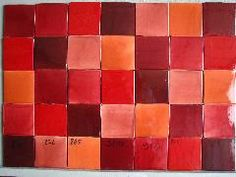 Carrelage Faience 10x10 Patchwork grenat rouge framboise IMG_5614