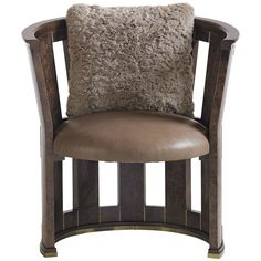 Caracole Middle berry Brown Chair