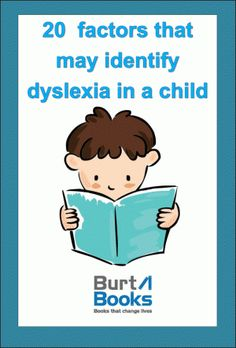 20 Factors that may Identify Dyslexia.; FREE Checklist!