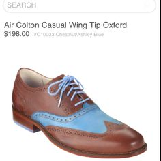 I really shouldn't find mens shoes so sexy... Cole Haan Wingtip