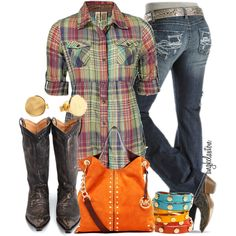 Love this outfit! The jeans, the boots, the shirt, the bag...all great!
