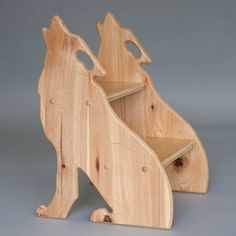 Nursery or Playroom Animal Stool; Bear, Wolf and Owl Nursery Kids Table Chair Set, Kid Table, Wood Projects, Woodworking Projects, Got Wood, Wooden Stools, Elephant Nursery, Diy Pallet Furniture, Wood Working For Beginners