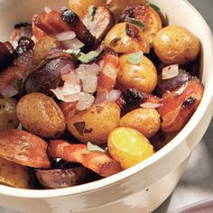 Roasted Potatoes with Bacon, Onions, and Sage! It's amazing! #bacon # ...