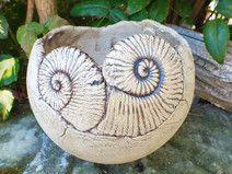 Pflanztopf Gartenkeramik Pflanzkugel Ammoniten