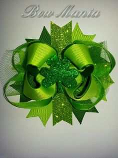St. Patrick's day Hairbow  $5.50  Made by Bow Mania