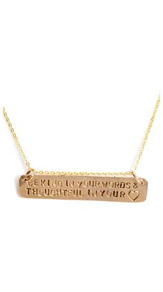 Be Kind in Your Words Necklace
