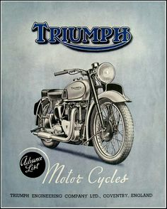 Triumph Bonneville More Bike Poster, Motorcycle Posters, Motorcycle Art, Motorcycle Design, Bike Art, Steampunk Motorcycle, Motorcycle Workshop, Tracker Motorcycle, Motorcycle Trailer