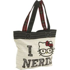 1e8e70c0a68f Loungefly Hello Kitty Nerd Tote - TAN Loungefly http   www.amazon.