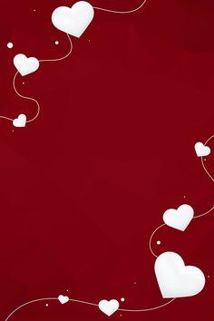 Colourful Wallpaper Iphone, Love Wallpaper, Iphone Wallpaper, Backgrounds Free, Wallpaper Backgrounds, Wallpapers, Red Background, Background Images, Heart Border