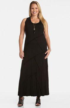 Karen Kane 'Carolyn' Reverse Seam Maxi Dress (Plus Size) available at #Nordstrom