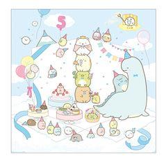 Happy birthday to ? Kawaii Doodles, Cute Doodles, Kawaii Stickers, Cute Stickers, Kawaii Drawings, Cute Drawings, Diy Kawaii, Sumiko Gurashi, Kawaii Crush
