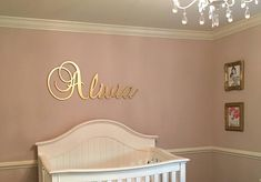Personalized Baby Girl Nursery Decor Wood Letters Wall Letters Wooden Letters for Nursery Wall Decor Wooden Signs Large Kids Room Decor Gold Nursery, Nursery Letters, Nursery Name, Nursery Signs, Nursery Wall Decor, Glitter Nursery, Room Decor, Wooden Name Signs, Baby Name Signs