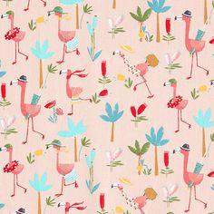 Bavlněný popelín Plameňák na dovolené – růžová Curtains, Quilts, Shower, Blanket, Rain Shower Heads, Blinds, Quilt Sets, Showers, Blankets