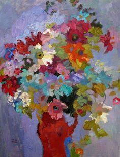 """Larisa Aukon, Lingering Memories by Larisa Aukon Oil ~ 24"""" x 18"""""""