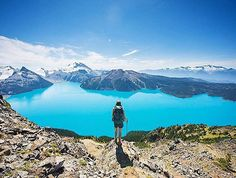 Overlooking Garibaldi Lake in Whistler, BC