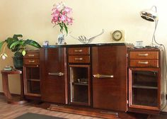 ART DECO, BAUHAUS SHOP: Furniture, French Art Deco, enfilade, buffet, console, library, canape, cosy, shop