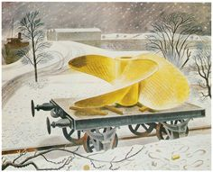 'Ship's Screw on a Railway Truck', Eric Ravilious.