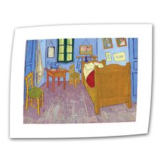 The Bedroom by Vincent van Gogh Painting Print on Canvas