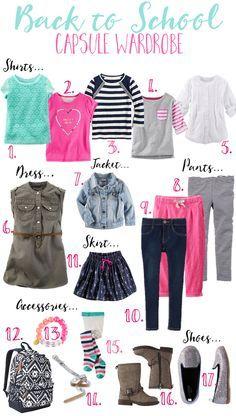 Back-To- School Capsule Wardrobe- Girl