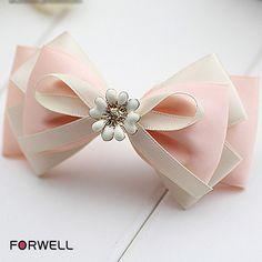Summer girls women hairpins hair accessories fresh style pink bow knot hair clip headdress handmade first flowers hair ornaments