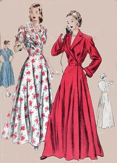 1940s Vogue 6241 Glamorous Full Circular Housecoat by sandritocat, $45.00
