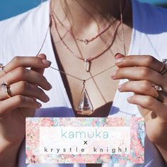 Dream Big Sparkle More Shine Bright We have teamed up with our friends at Krystle Knight Jewellery to deliver you the most magical collaboration yet. We are giving 1 lucky follower the chance to win a Kamuka Optical Gem Activewear set valued at $150 and the Krystel Knight White Aura #2 Clear Quartz Crystal Necklace in rose gold or silver valued at $169. To enter all you have to do tag 3 friends who make your world a little more brighter and all be following @kamukaactive and…