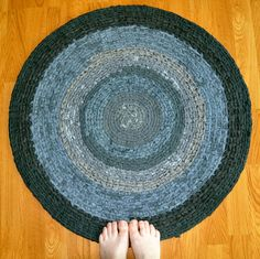 Crochet Rag Rug  A Study in Grays by ekra on Etsy, $94.00