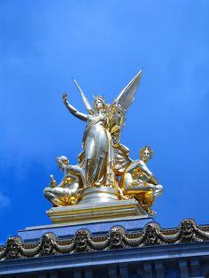 Sur le toit du Palais de l'Opéra
