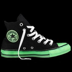 Glow in the Dark Converse Chuck Taylors - lifestylerstore - http://www.lifestylerstore.com/glow-in-the-dark-converse-chuck-taylors/