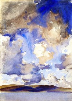 wasbella102: Clouds (also known as A Sky) John Singer Sargent - circa 1896 (by BoFransson) alongtimealone: