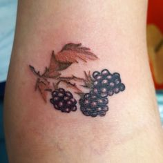 small #blackberry #tattoo by Laura Carney from VA Kiss of Ink studios