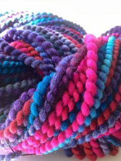 "NICKELBEE Studios - my spiral-ply handspun called ""Pixy Stix"""