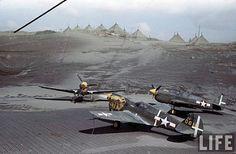 P-40's on Kiska   by D. Sheley