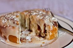 Pumpkin pie cinnamon rolls?  At a top-your-own cinnamon roll party?? Yes please.