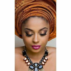 Complete your look with a good pair of lashes!pic via @ghanaweddings #tagthemua #welove  #instapost #geleandbeads