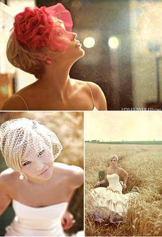 Bridal Portraits. I love her dress.