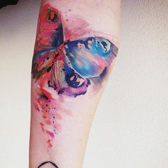 #butterfly #watercolor #tattoo #tattoos #tattooed #ink #inked #pain #forever #skin #tatuaje