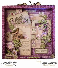 Time to Flourish Altered Frame 1 Clare Charvill Jones Crafts DT Project Dec 14 Graphic 45