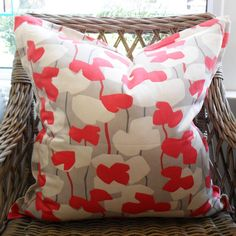 Watermelon Flower Scatter Cushion with Oxford Edge Available including or excluding feather and down inner and in various sizes Cotton - Cold Wash Lead tim Scatter Cushions, Throw Pillows, Watermelon Flower, Flowers, Indoor, Boutique, Collection, Home Decor, Interior