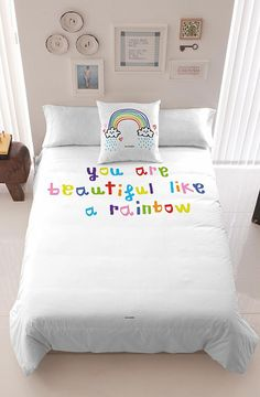 Putting together a room for a tween or teen can be harder than you think.  A space that they can grow with, but still be age appropriate is important and these bedding designs by Davidelfin have the perfect balance of bold and fun with modern and easy. The RAINBOWN duvet cover is sweet and playful with multicoloured typography against the all white background. This can be easily paired with just about anything.  ($90.00) The KATHARSIS MULTIPLE duvet is bold and bright! This is such a fun…